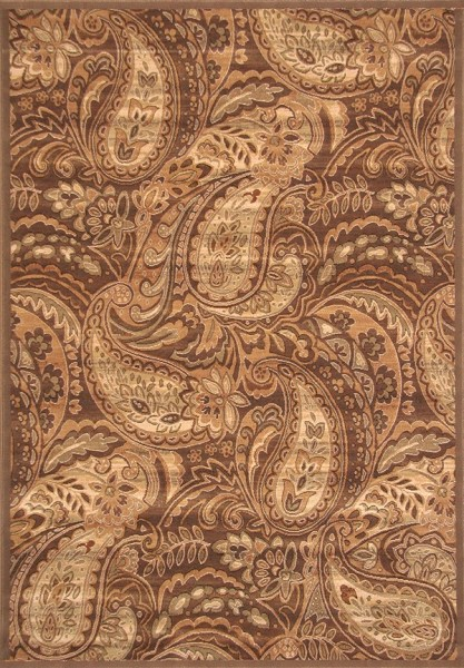 Brown, Ivory, Sage (2015) Traditional / Oriental Area Rug