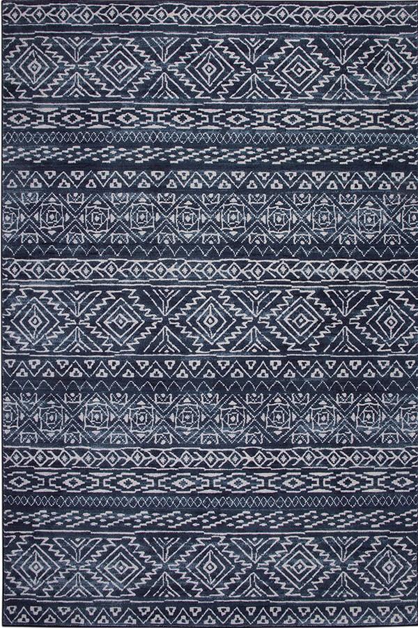 Blue, Ivory (2069) Southwestern / Lodge Area Rug