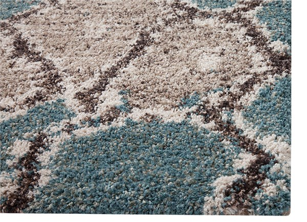 Blue, Brown (2519) Ikat Area Rug