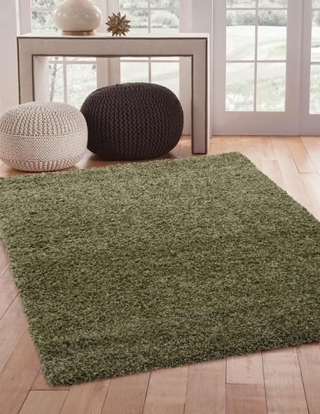 Green (3007) Shag Area Rug