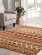 Product Image of Tan, Rust, Sage, Blue (6053) Southwestern / Lodge Area Rug