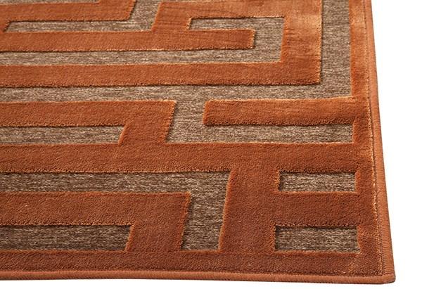 Rust, Medium Brown (6066) Contemporary / Modern Area Rug