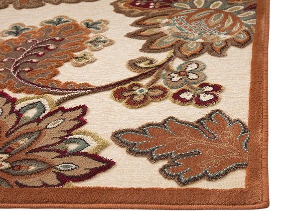 Ivory, Brown, Tan, Sage (6047) Traditional / Oriental Area Rug