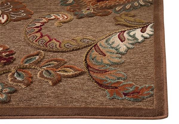 Brown, Tan, Ivory, Burgundy (6052) Traditional / Oriental Area Rug