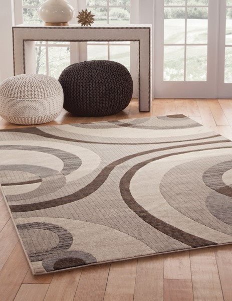 Grey, Ivory (7006) Contemporary / Modern Area Rug
