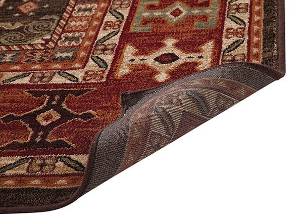 Chocolate, Red, Ivory (7083) Southwestern / Lodge Area Rug