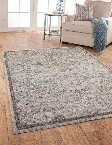 Beige, Blue, Brown (7275) Traditional / Oriental Area Rug