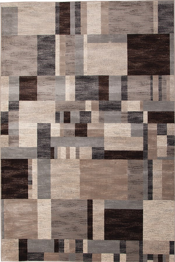Charcoal, Ivory, Grey (7008) Contemporary / Modern Area Rug