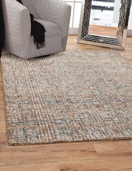 Teal, Brown (8151) Contemporary / Modern Area Rug