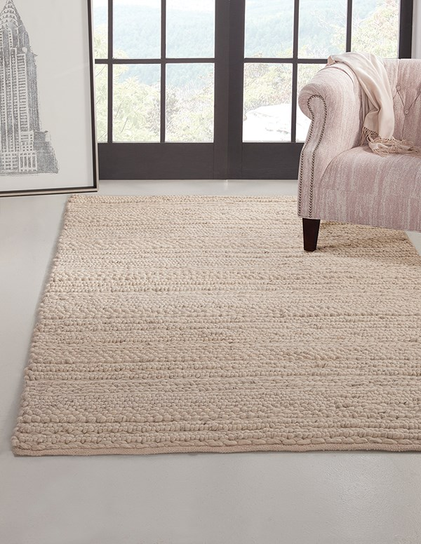 Ivory (8072) Solid Area Rug