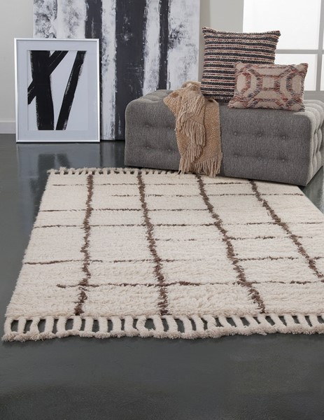 Berber, Off White (4901) Shag Area Rug