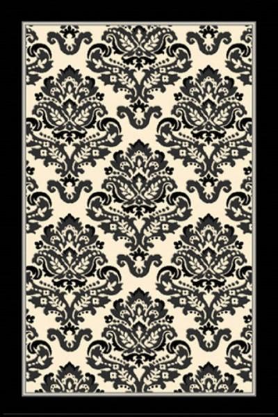 Black, Grey, Ivory (9372-874) Traditional / Oriental Area Rug