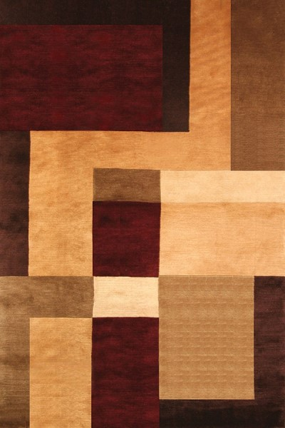 Rust, Gold, Brown (5053) Contemporary / Modern Area Rug