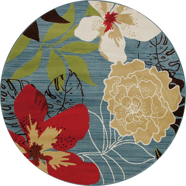 Silver Ridge Weavers Adderly Tropical Rugs Floral Area