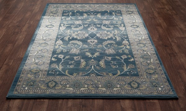 Blue, Light Gray (AR-0138) Traditional / Oriental Area Rug