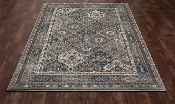 Gray, Brown, Blue (AR-0155) Traditional / Oriental Area Rug