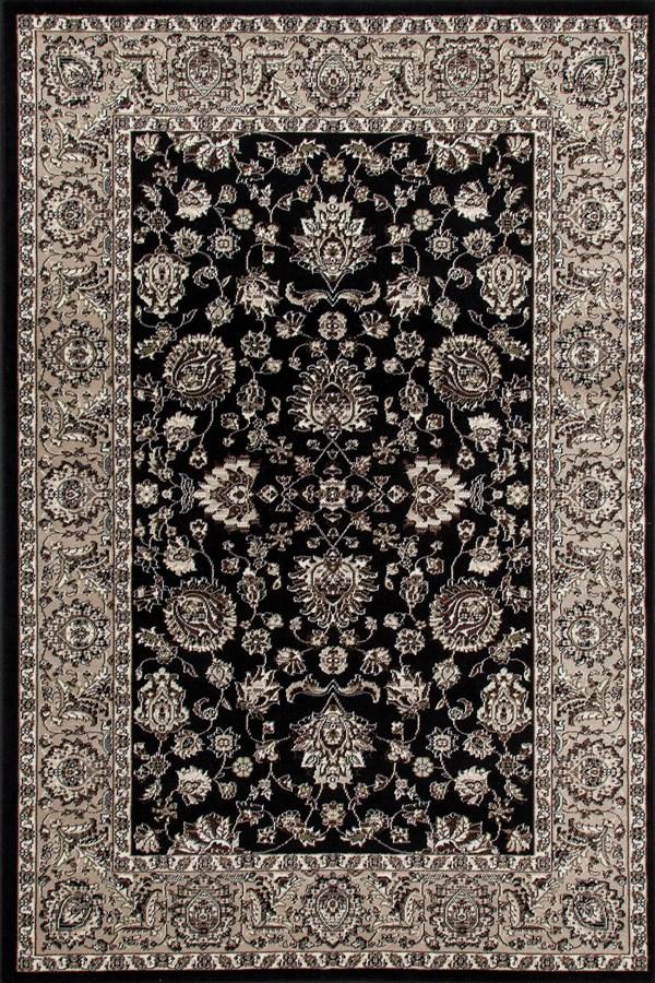 Black, Linen (AR-031) Traditional / Oriental Area Rug