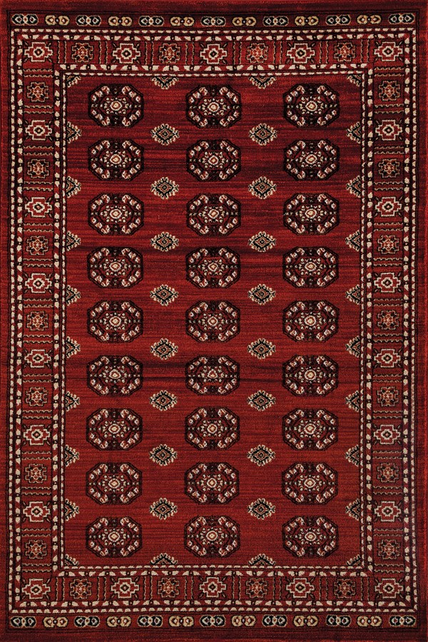 Red, Linen (AR-0271) Traditional / Oriental Area Rug