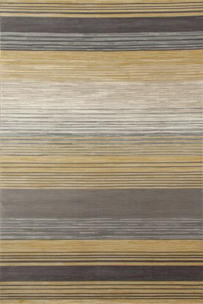 Yellow, Gray, Linen (AR-014) Striped Area Rug