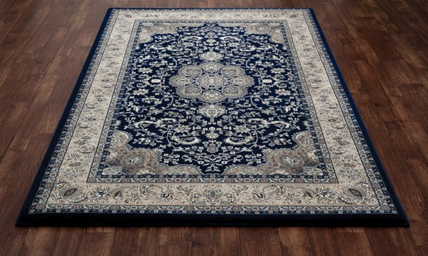 Navy, Beige (AR-071) Traditional / Oriental Area Rug