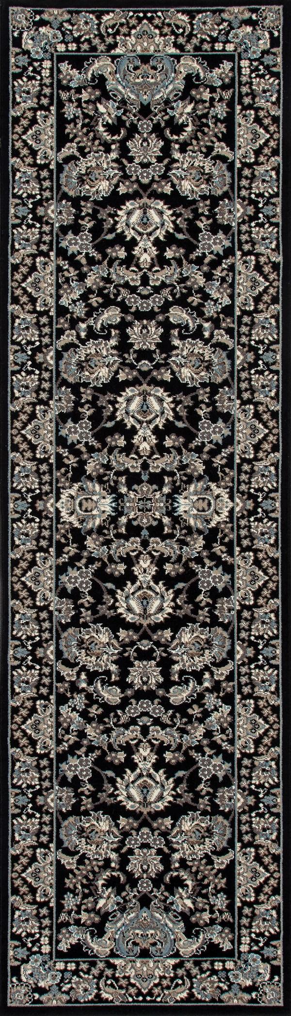 Black, Cream (AR-061) Traditional / Oriental Area Rug