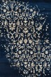 Product Image of Damask Peacock Blue, Light Brown, Linen (AR-0310) Area Rug