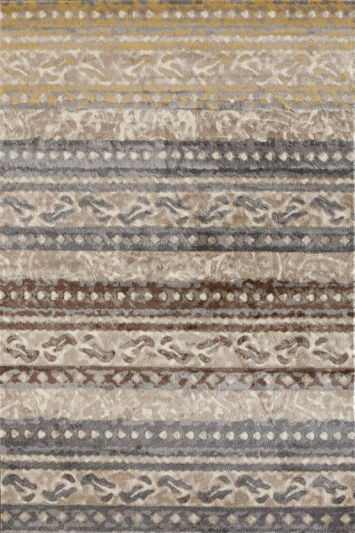 Beige, Yellow, Gray (AR-0307) Striped Area Rug