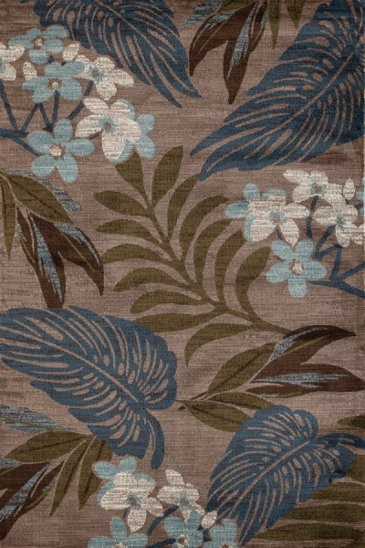 Beige, Blue, Green (AR-0383) Floral / Botanical Area Rug