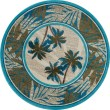 Product Image of Beige, Aqua, Green (AR-0386) Floral / Botanical Area Rug