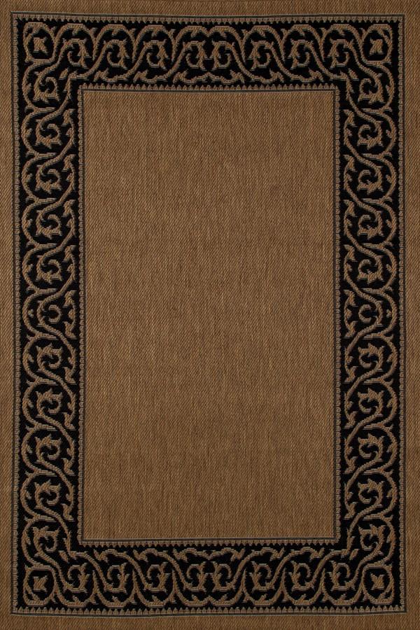 Brown, Black (SISO-017) Outdoor / Indoor Area Rug