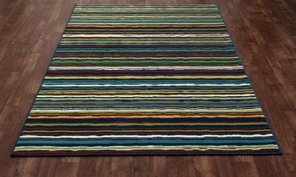 Blue, Red, Green (ARO-001) Outdoor / Indoor Area Rug