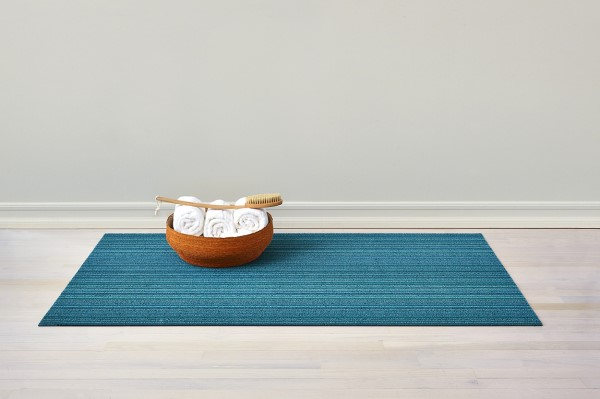 Turquoise Striped Area Rug