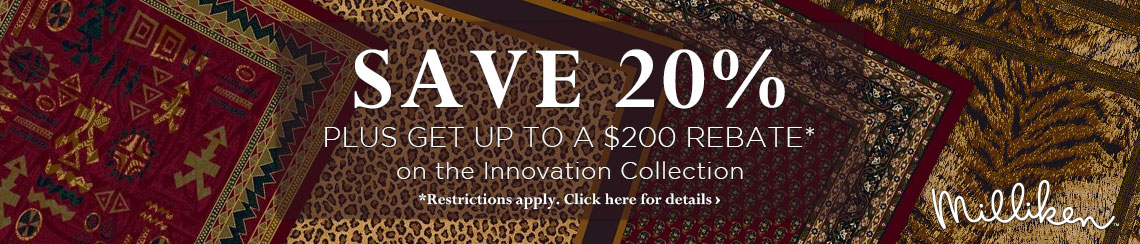 Milliken Rugs - Save 20% plus get up to $100 back.