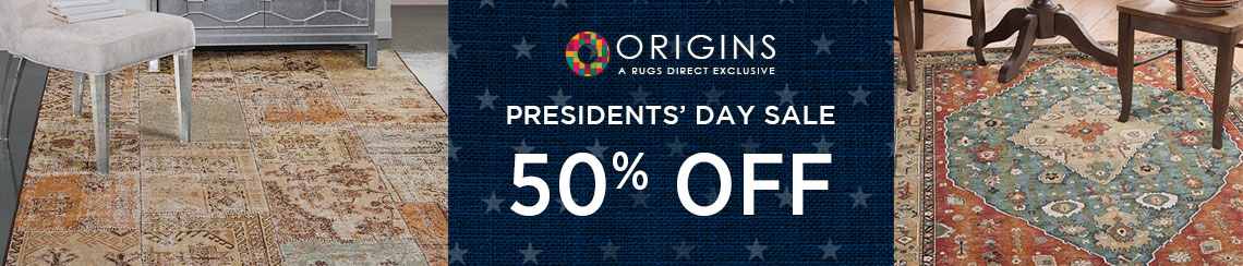 Origins Rugs - Presidents' Day Sale - Save 50%!.