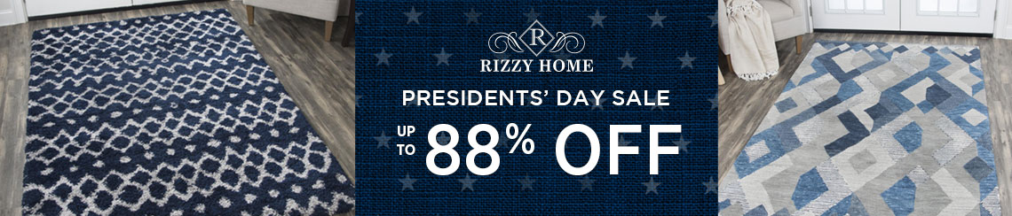 Rizzy Rugs - Presidents' Day Sale - Save up to 88%!
