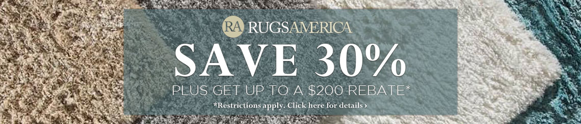 Rugs America Rugs - Save 30% plus get up to $200 back.