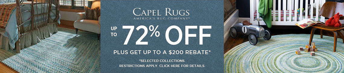 Capel Rugs - Save up to 72% plus get up to $200 back.