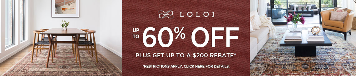 Loloi Rugs - Save up to 60% off plus get up to $200 back!