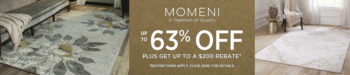Momeni Rugs - Save 63% plus get up to $200 back!