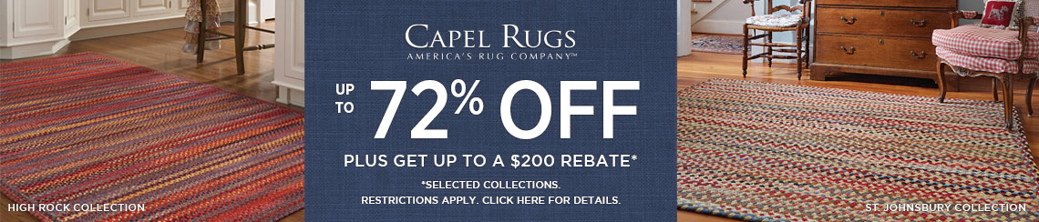 Capel Rugs - Save up to 72% + get up to $200 back.