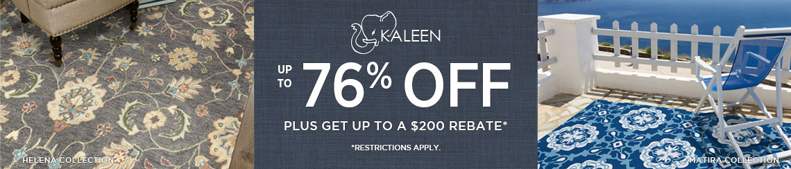 Kaleen Rugs - Save up to 76% + get up to $200 back.