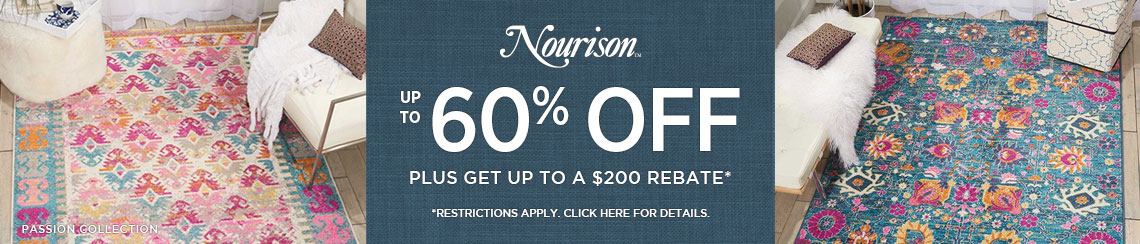 Nourison Rugs - Save up to 60% + get up to $200 back.