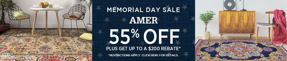 Amer Rugs - Save 55% + get up to $200 back!