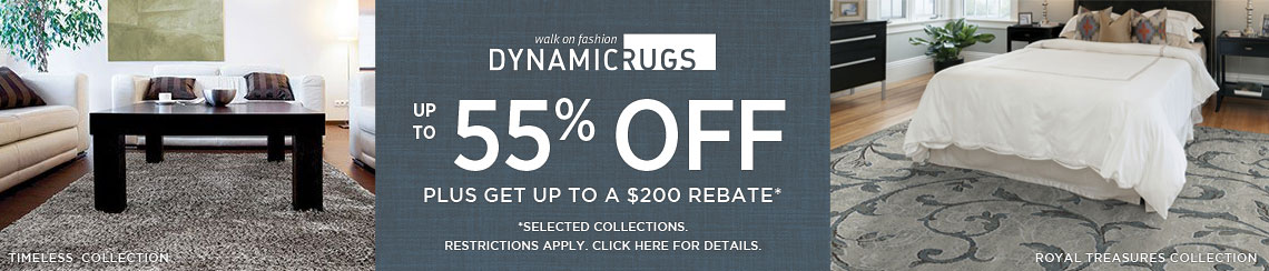 Dynamic Rugs - Save up to 55% plus get up to $200 back.