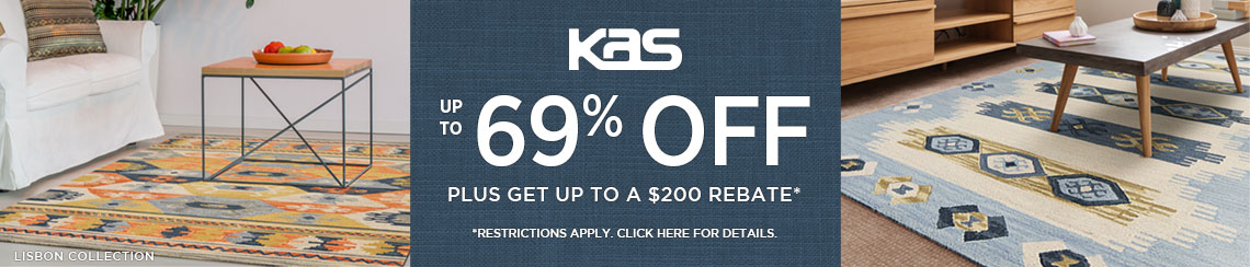 KAS Rugs - Save up to 69% plus get up to $200 back.