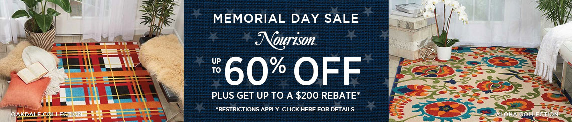 Nourison Rugs - Save up to 60% plus get up to $200 back.