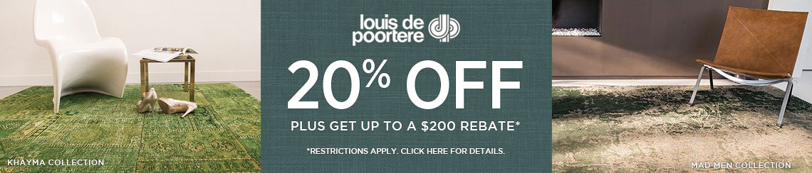 Louis de Poortere Rugs - Save 20% + get up to $200 back.