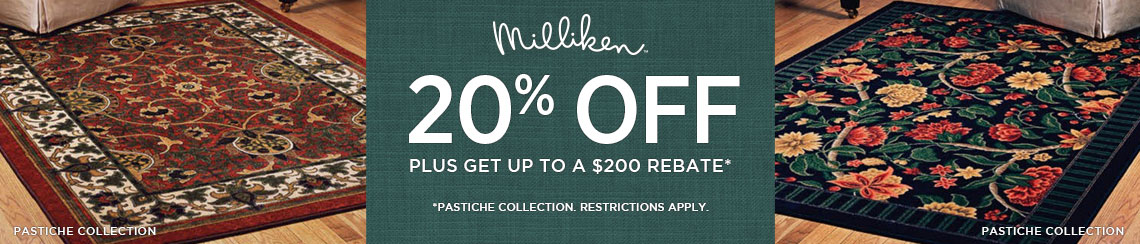 Milliken Rugs - Save 20% plus get up to $200 back.