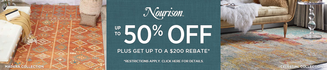 Nourison Rugs - Save up to 50% + get up to $200 back.