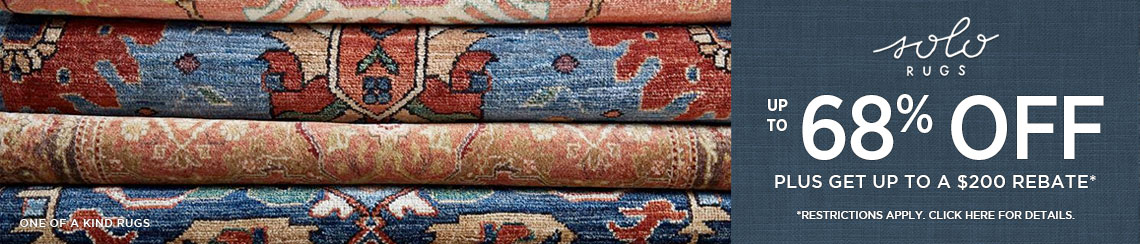 Solo Rugs - Save up to 68% + get up to $200 back!
